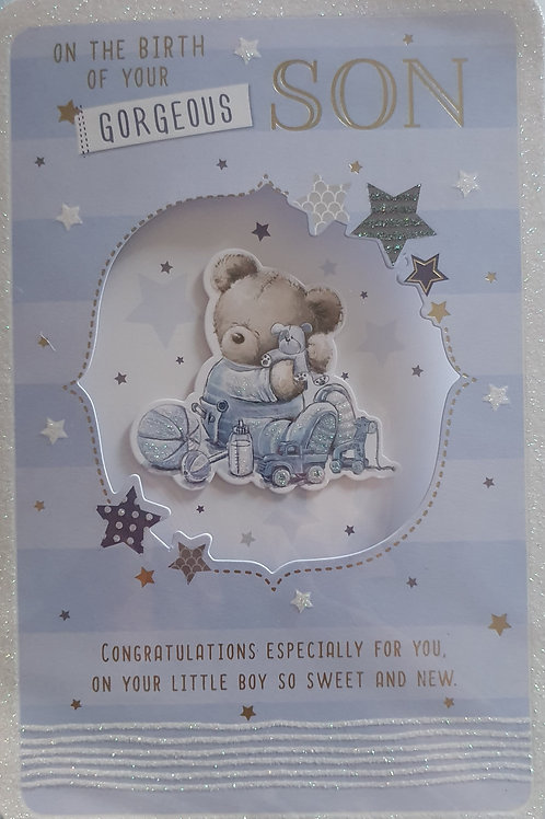 Birth of Baby Boy Card