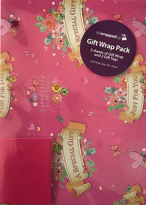 Just For You Pink Gift Wrap Pack