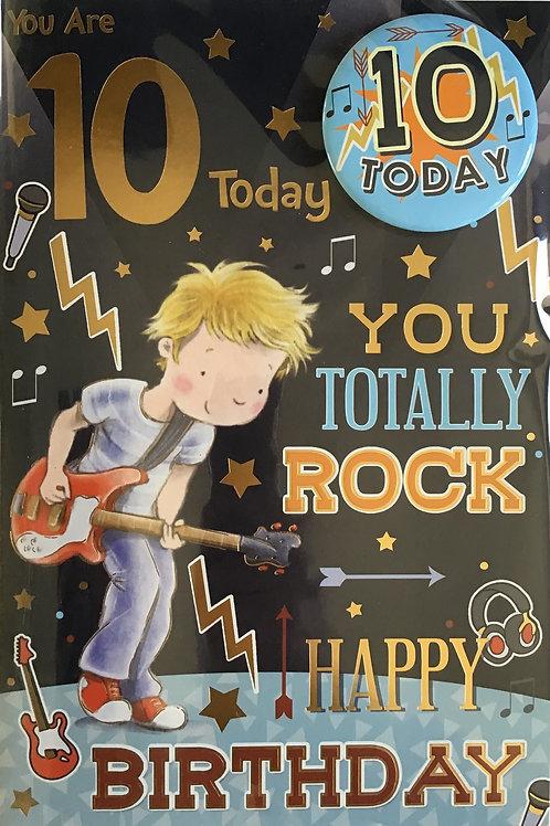 10th Birthday Card
