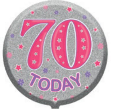 "70th Birthday Female 18"" Foil Balloon"