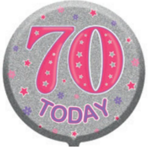 "70th Birthday Female 18"" Foil Balloon (Deflated)"