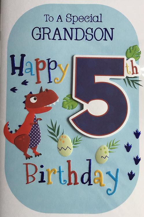 Grandson's 5th Birthday Card