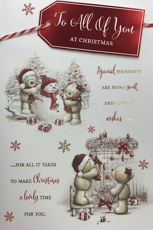 To All Of You Christmas Card