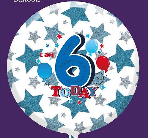 "6th Birthday Male 18"" Foil Balloon"