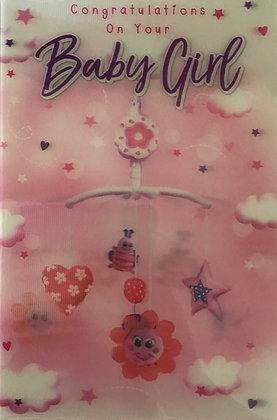 3D Baby Girl Card (T)