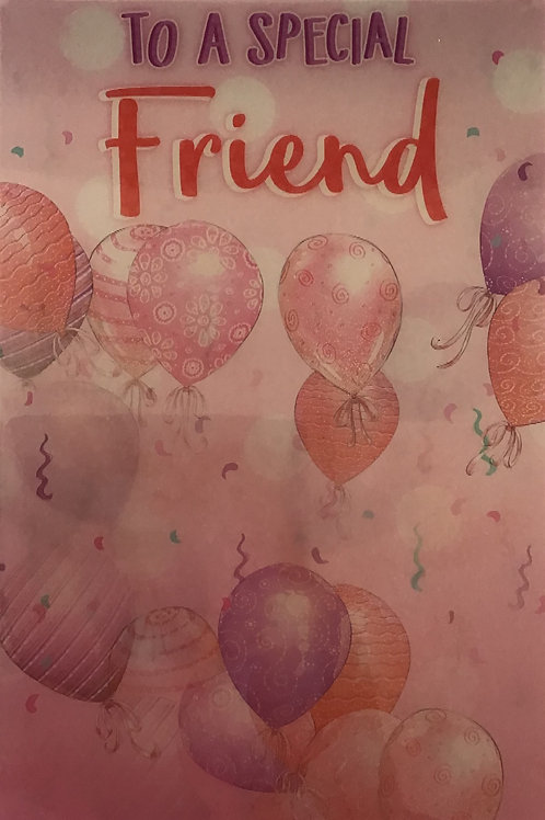 3D Friend Birthday Card (T)