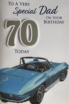 Dad's 70th Birthday Card