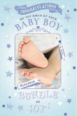 3D Baby Boy Card(T)