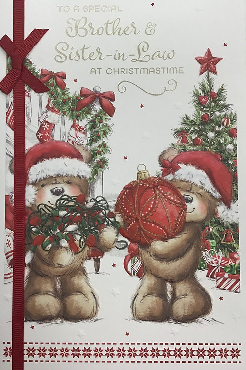 Brother & Sister In Law Christmas Card