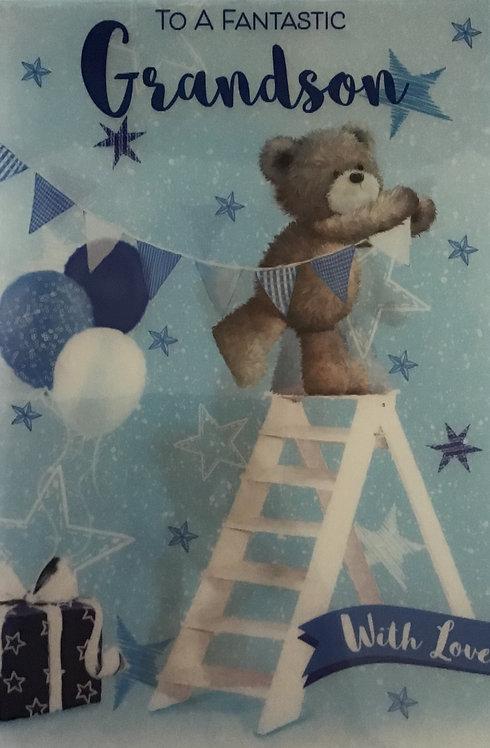 3D Grandson Birthday Card (C)