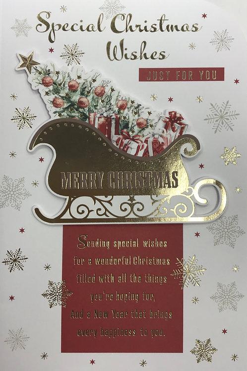 Open Christmas Card