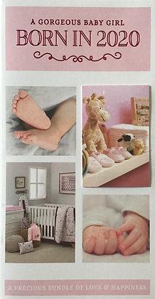 Born in 2020 Baby Girl Card
