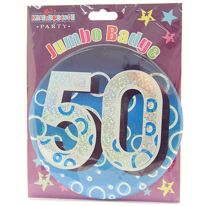 Age 50 Male Party Badge (15cm)