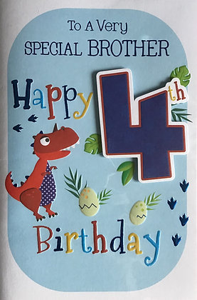 Brother's 4th Birthday Card