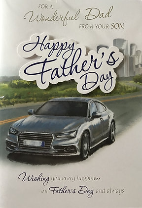 Dad From Son Father's Day Card (Lge)