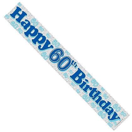 Male 60th Birthday Banner