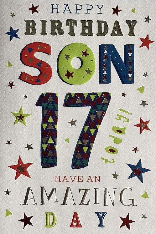 Son's 17th Birthday Card