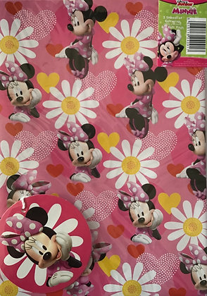 Disney Minnie Mouse Gift Wrap Pack
