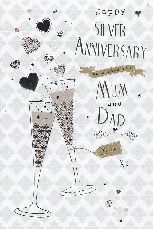 Mum & Dad 25th Anniversary Card