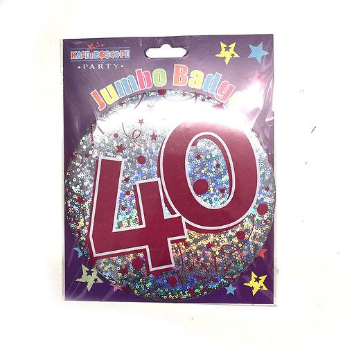 Age 40 Female Party Badge (15cm)