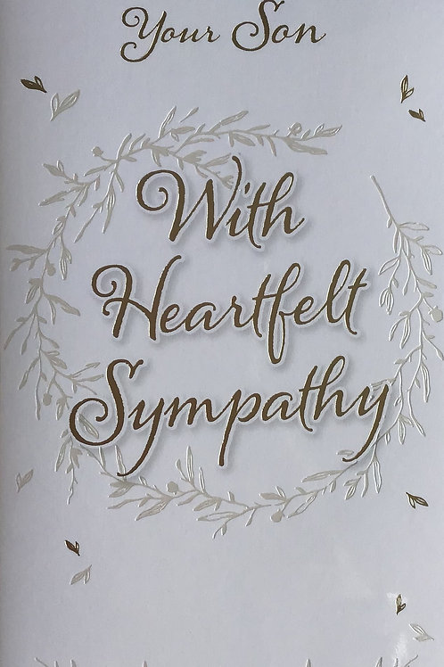 Sympathy Loss Of Son Card