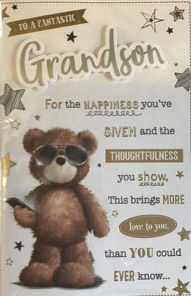 Grandson Birthday Card 8 Page