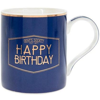 Gents Society Happy Birthday Mug