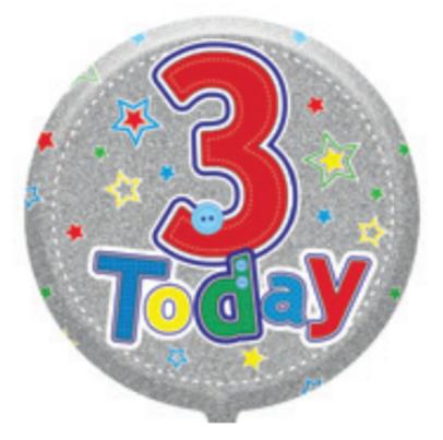 "3rd Birthday Male 18"" Foil Balloon"