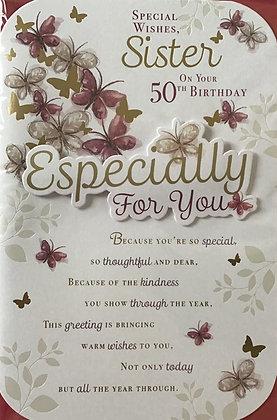 Sister's 50th Birthday Card