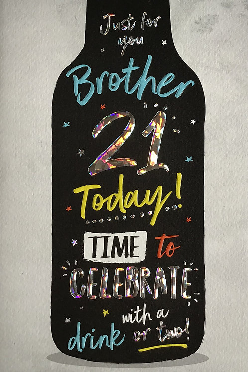 Brother's 21st Birthday Card