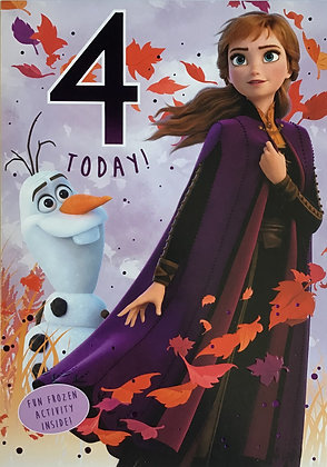 Disney Frozen 2 - 4th Birthday Card
