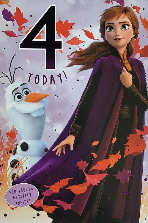 Disney Frozen 2 - 4th Birthday Card