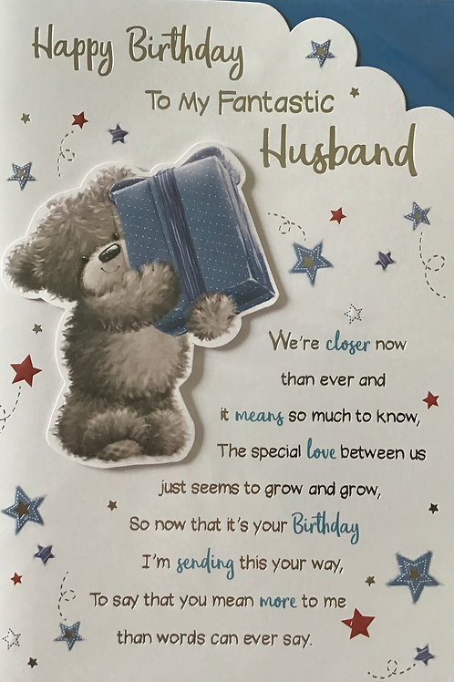 Husband Birthday Card (Lge)