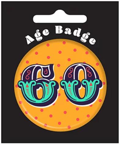 60th Birthday Badge (5.5cm)