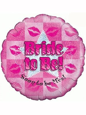 "Bride to Be Hen Party Holographic 18"" Foil Balloon (Deflated)"