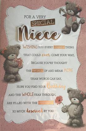 Niece Birthday Card 8 Page