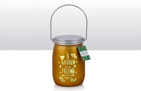 LED A Garden Is A Friend Garden Glass Jar
