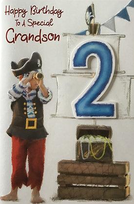 Grandson's 2nd Birthday Card