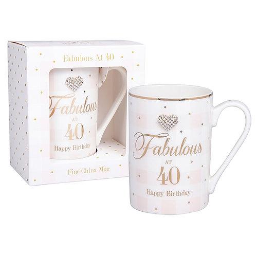 Mad Dots 40th Birthday Mug