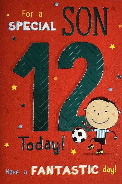 Son's 12th Birthday Card