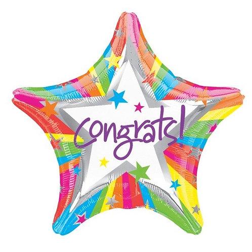 """Congrats 18"""" Foil Balloon"""