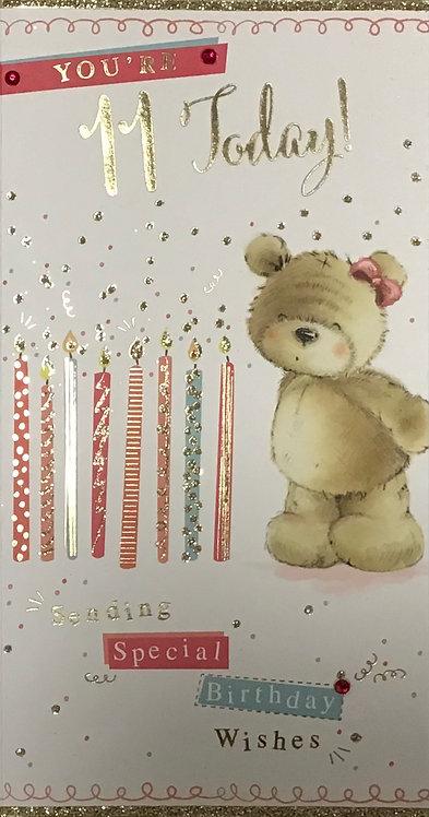 11th Female Birthday Card