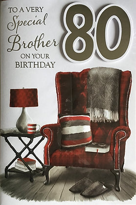 Brother's 80th Birthday Card