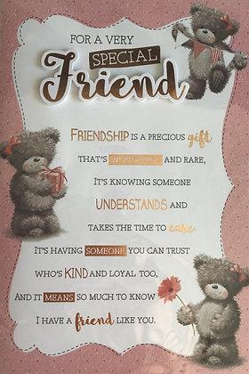 Friend Birthday Card 8 Page