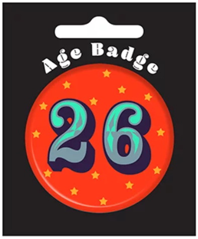 26th Birthday Badge (5.5cm)