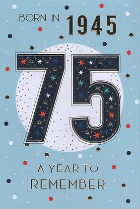 Year You Were Born 75th Birthday Card