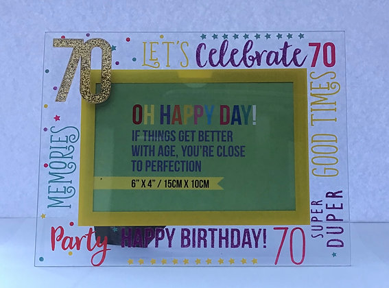 Celebrations 70th Photo Frame