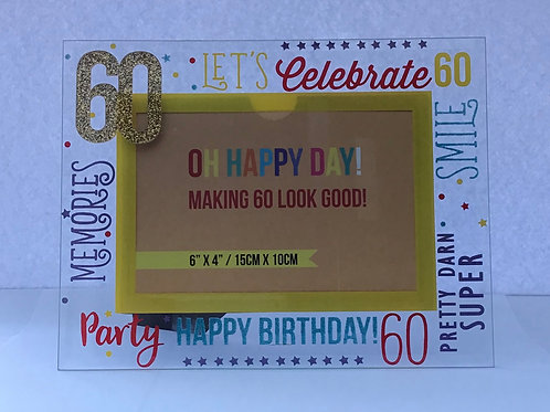 Celebrations 60th Photo Frame