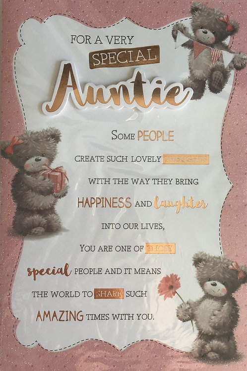Auntie Birthday Card 8 Page