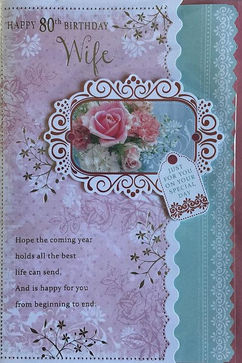 Wife's 80th Birthday Card